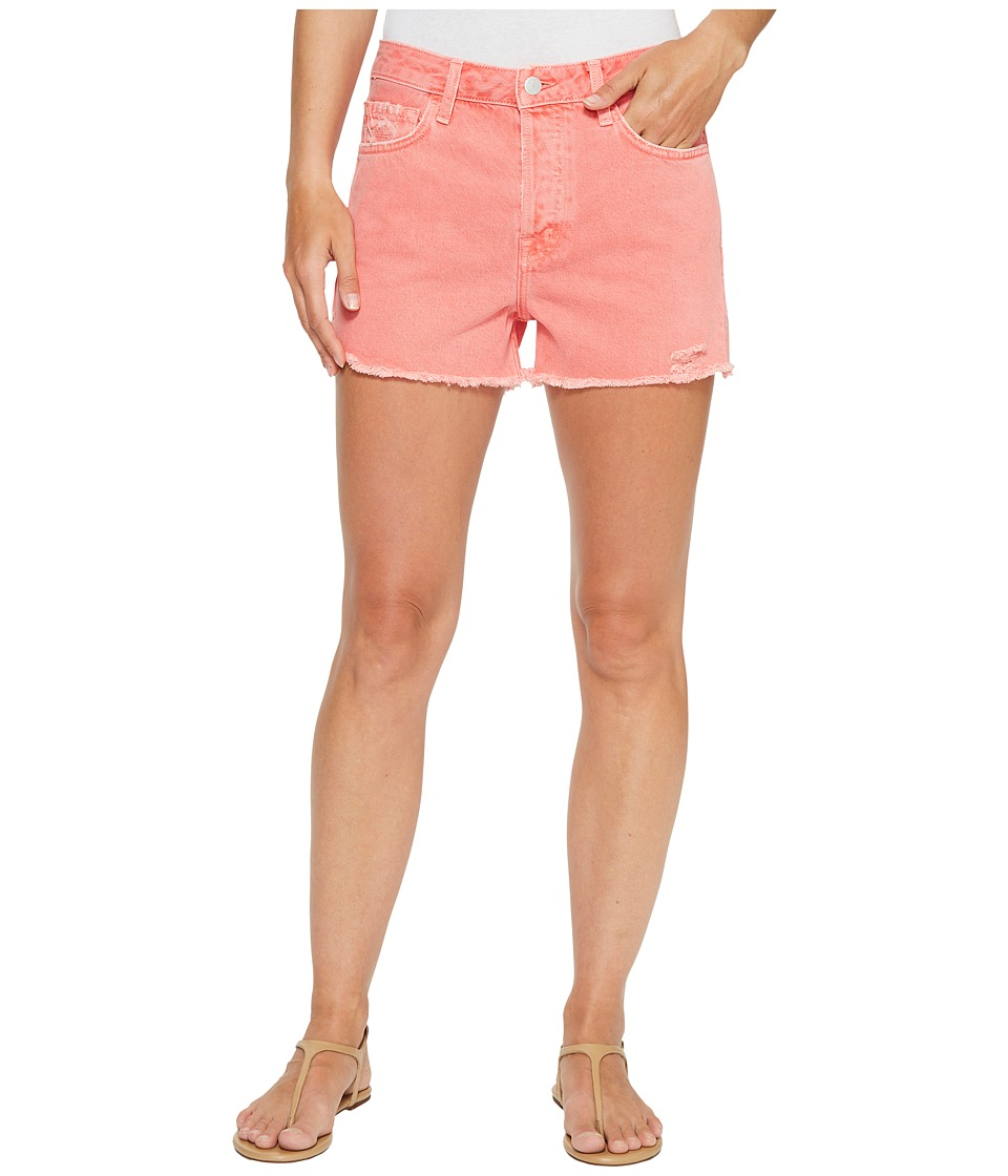 J Brand - Gracie High-Rise Shorts w/ Raw Hem in Glowing Blossom (Glowing Blossom) Women's Shorts