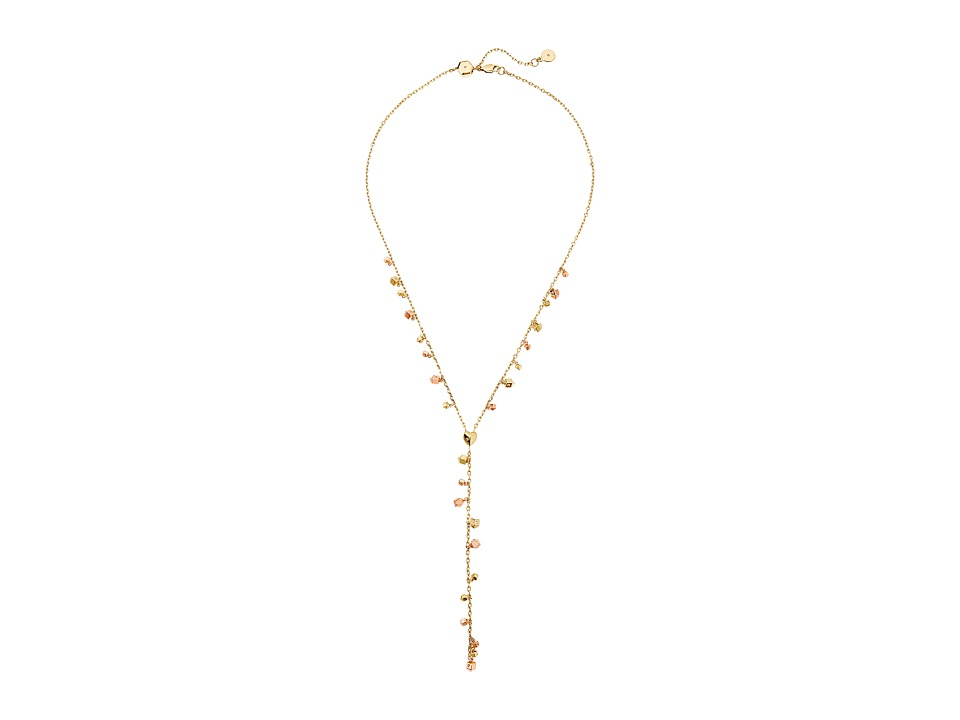 Michael Kors - Tailored Two-Tone Nugget Slider Y-Necklace (Gold) Necklace