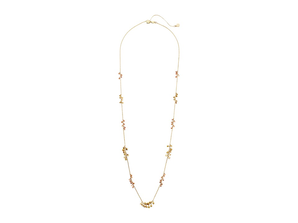Michael Kors - Tailored Two-Tone Long String Layer Necklace (Gold) Necklace