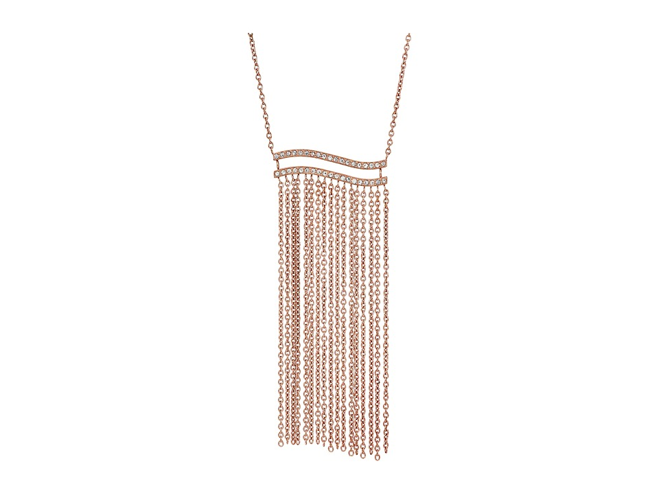Michael Kors - Wonderlust Long Tassel Pendant Necklace (Rose Gold) Necklace