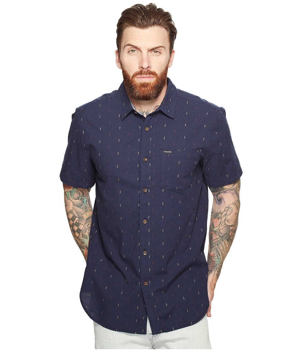 Volcom - Eli Short Sleeve (Navy) Men's Clothing