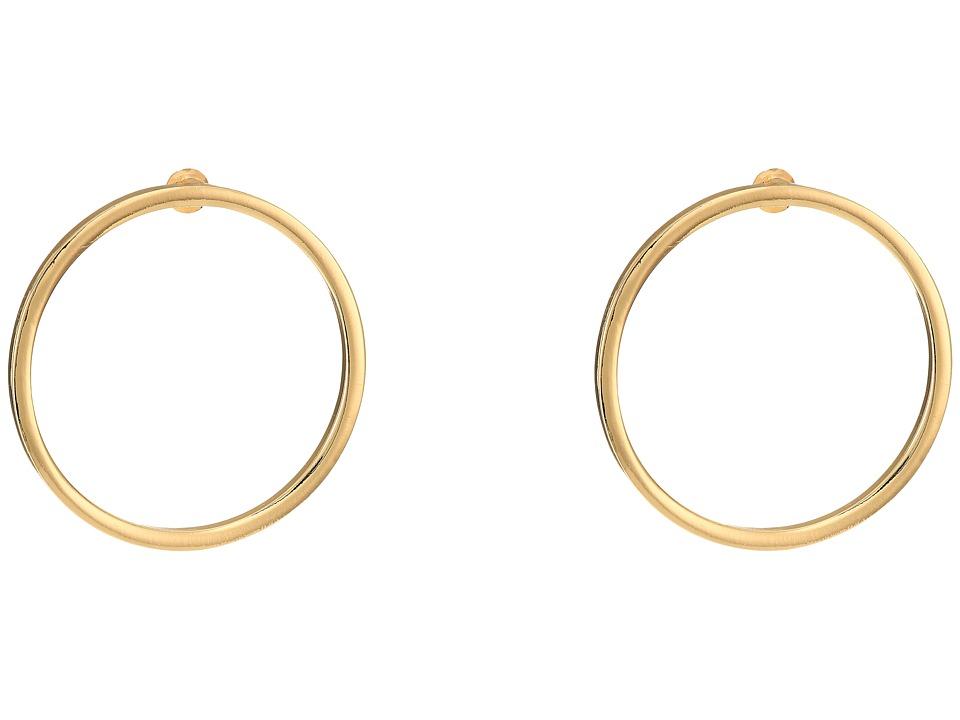 Steve Madden - Large Ring Post Earrings (Gold) Earring