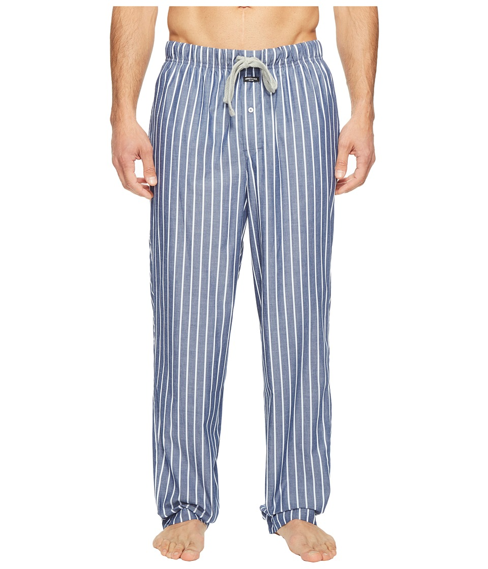 Kenneth Cole Reaction - Woven Pants (Medieval Blue Wide Stripe) Men's Pajama
