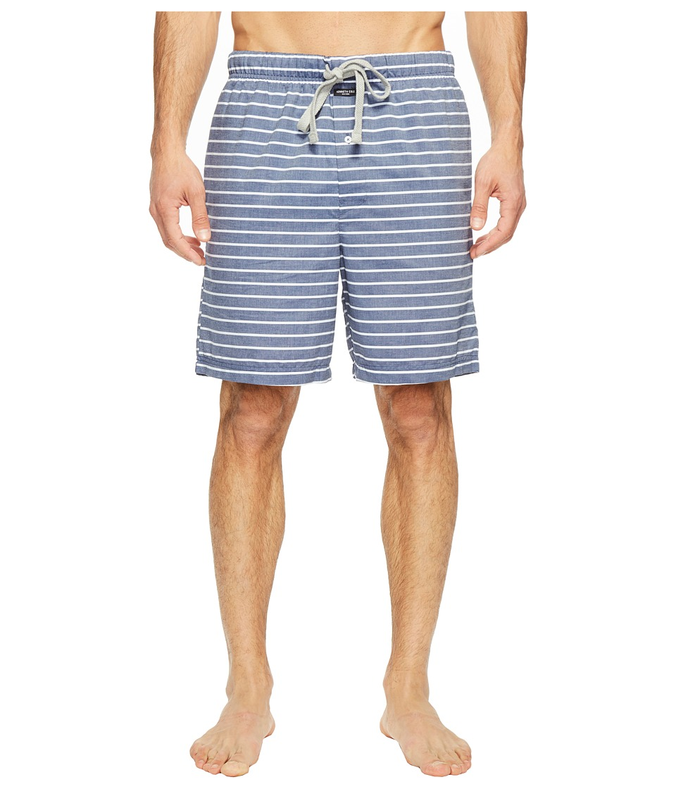 Kenneth Cole Reaction - Woven Jam (Medieval Blue Wide Stripe) Men's Pajama