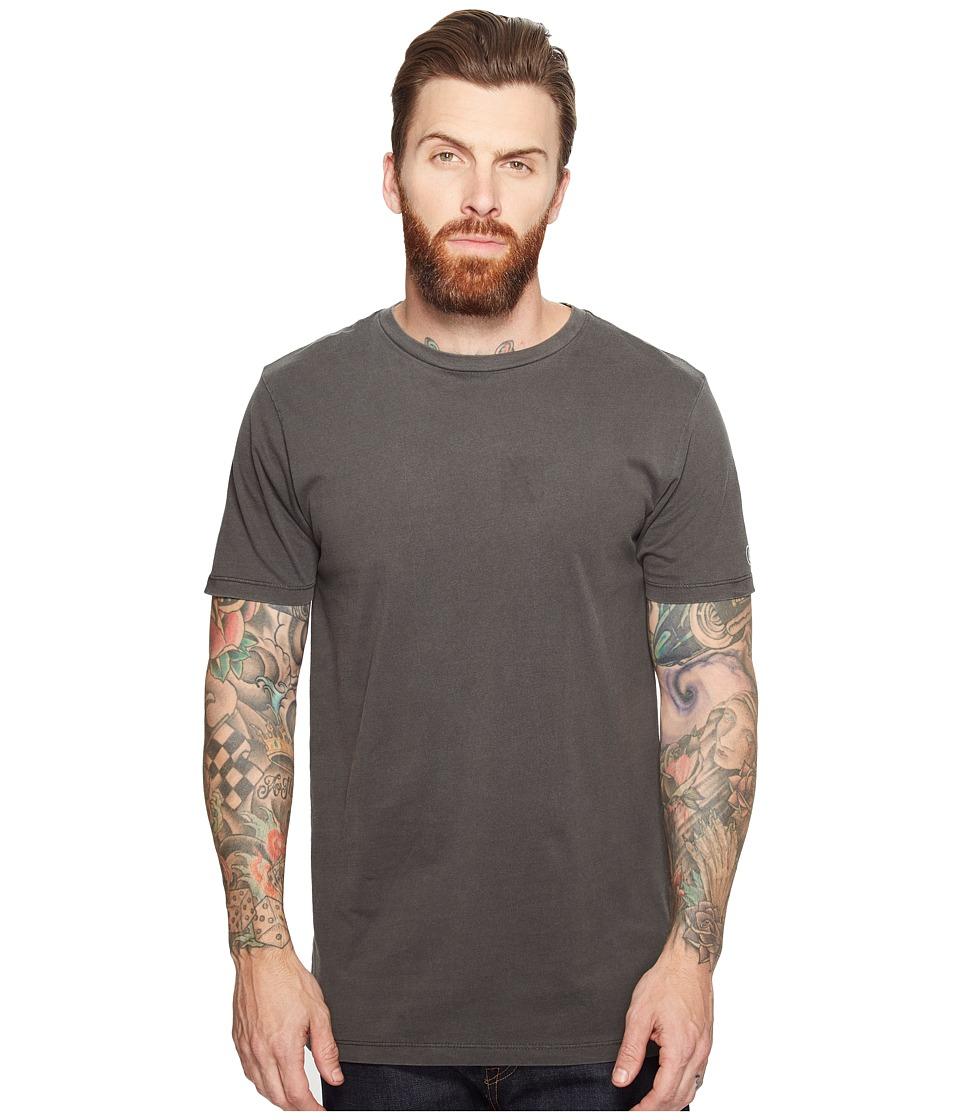 Volcom Pale Wash Solid Short Sleeve Tee (Black) Men
