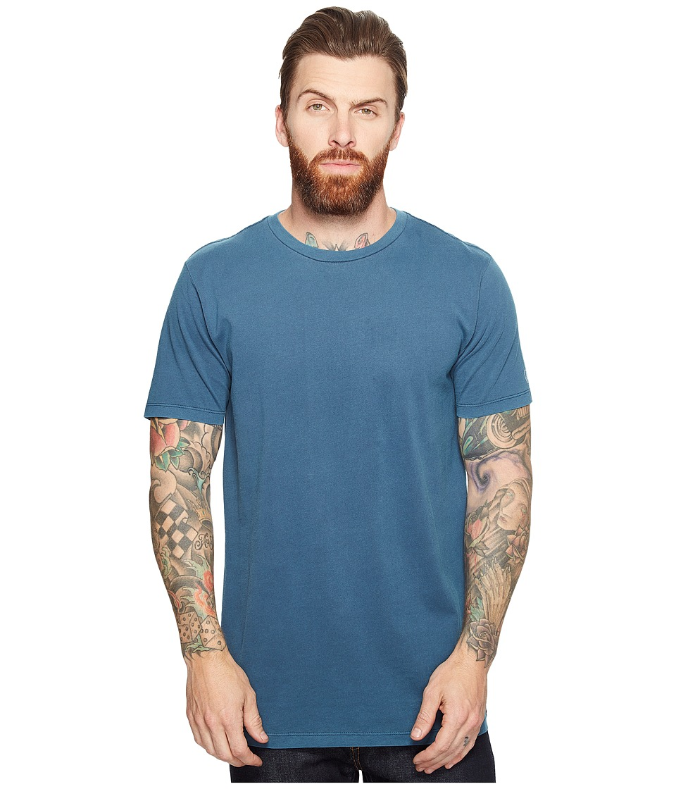 Volcom - Pale Wash Solid Short Sleeve Tee (Flight Blue) Men's T Shirt