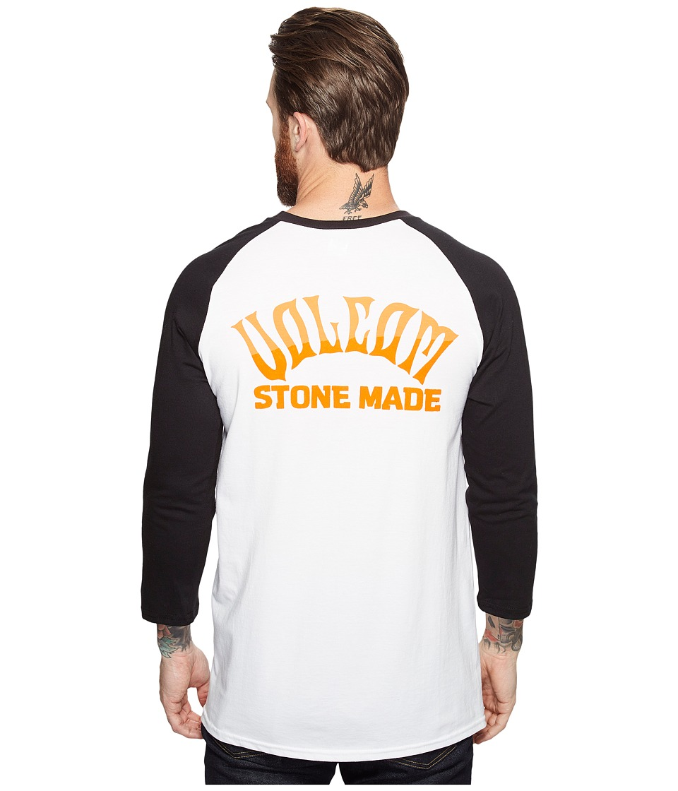 Volcom Wrecker 3/4 Raglan Tee (White) Men