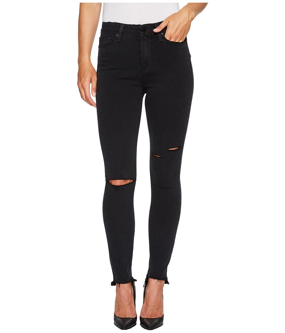 Paige - Margot Ankle with Uneven Undone Hem in Black Sky Destructed (Black Sky Destructed) Women's Jeans