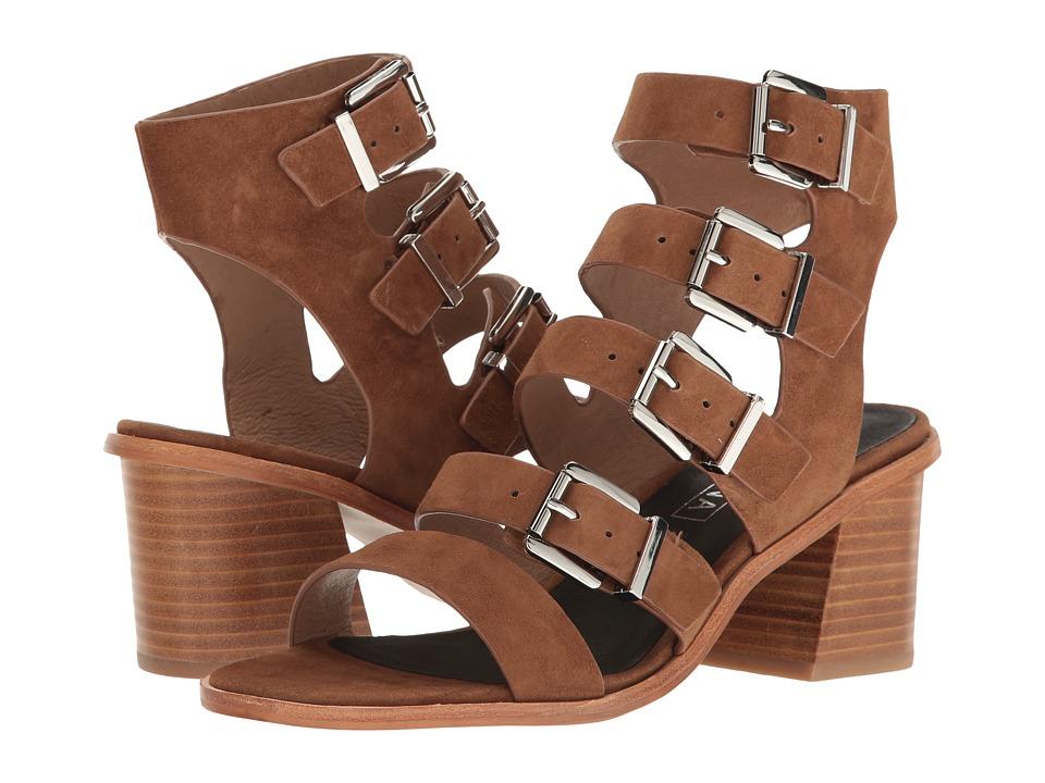 Sol Sana - Jazz Heel (Cognac Suede) Women's Shoes