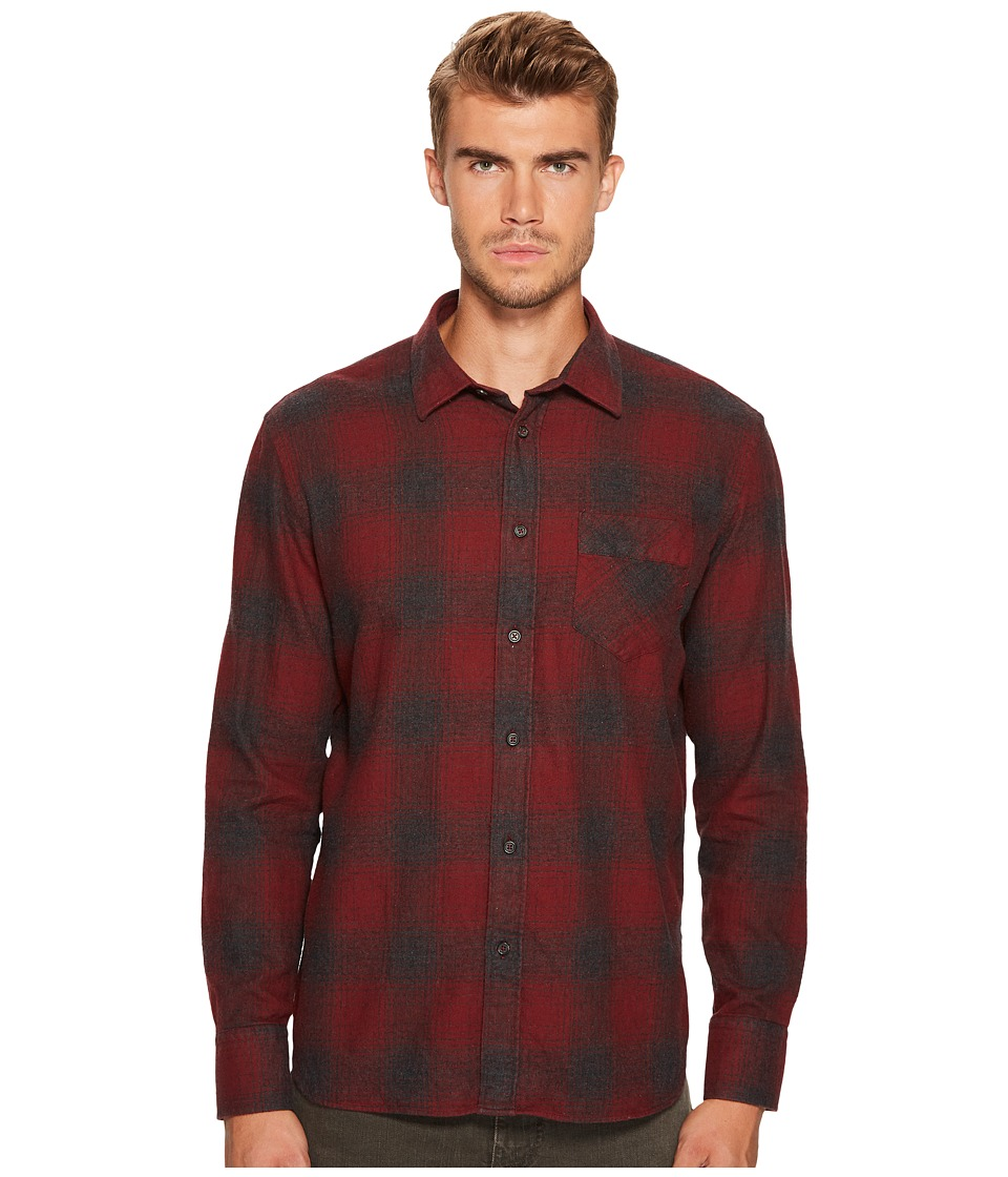 Image of Billy Reid - Walland Shirt (Charcoal/Burgundy) Men's Sweater