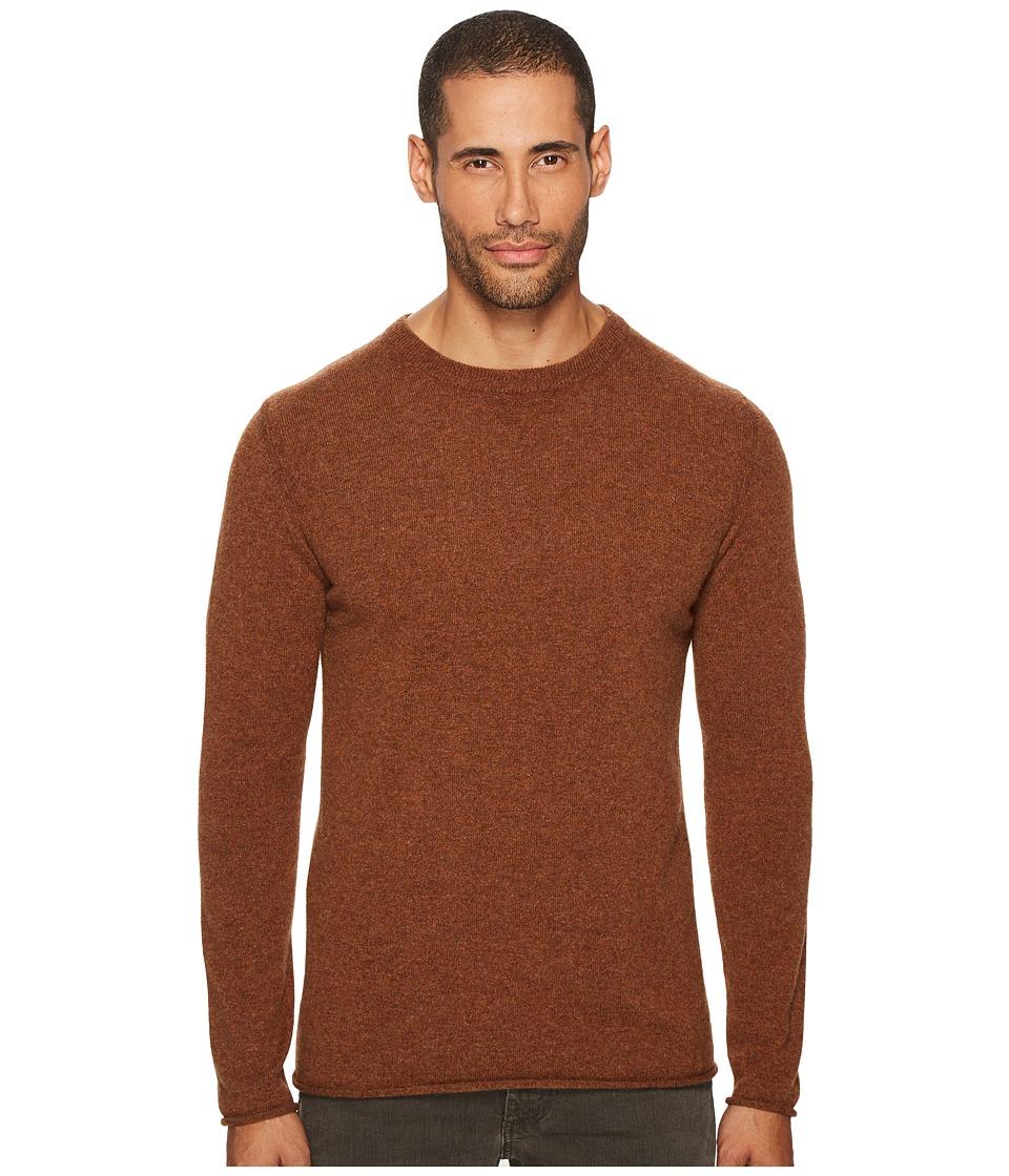 Billy Reid Cashmere Crew Sweater (Rust) Men