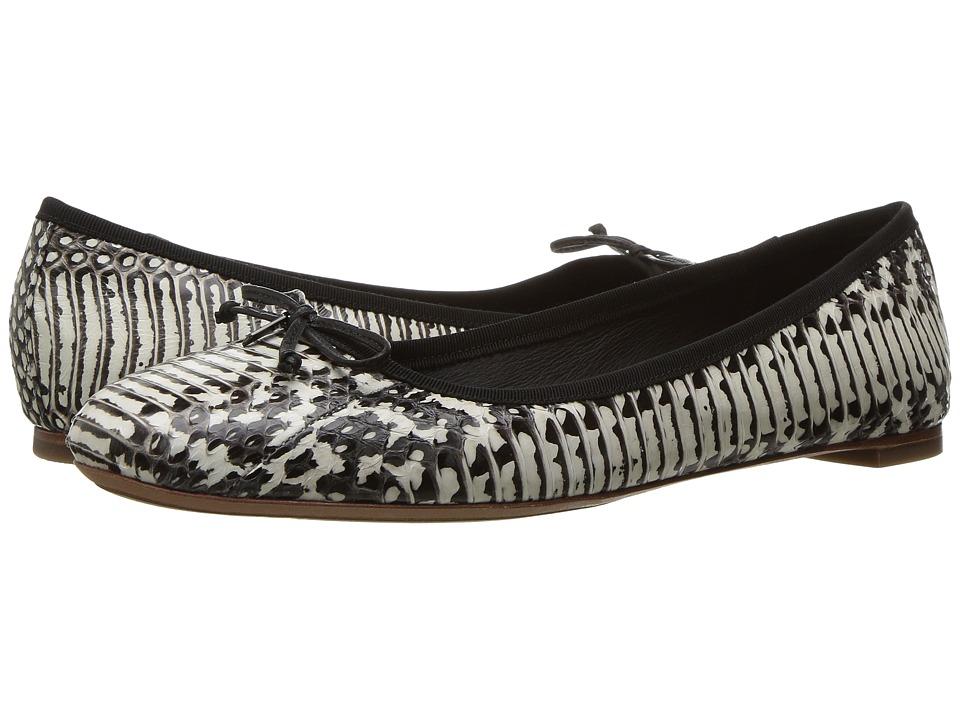 COACH - Flatiron (Black/White Land Snake) Women's Shoes