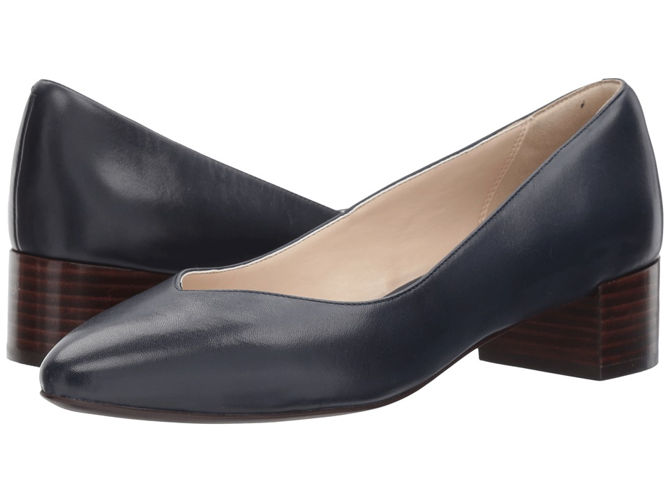 Cole Haan Yuliana Pump (Marine Blue Leather) Women