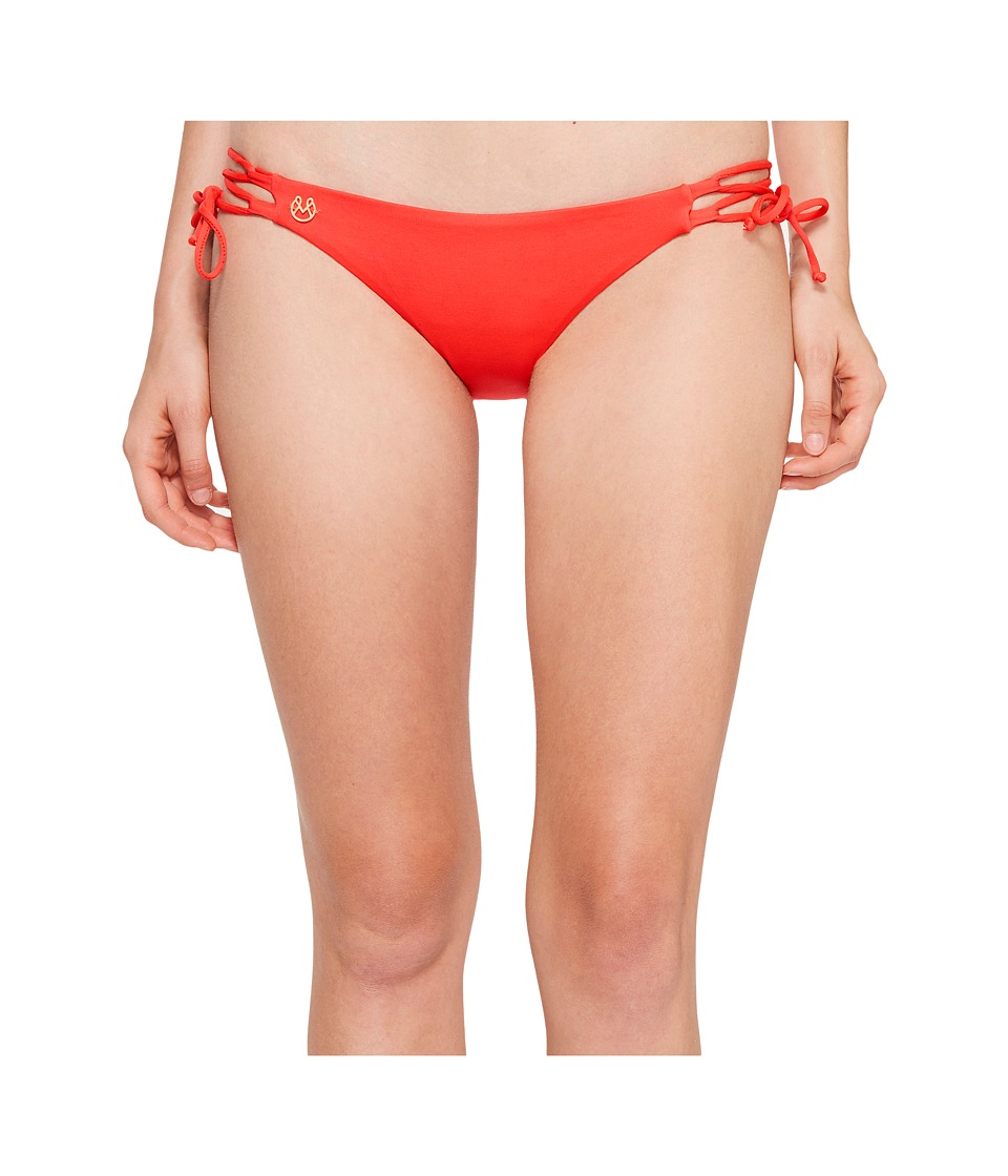 Maaji Tulip Rendezvous Signature Cut Bottom Red Swimwear
