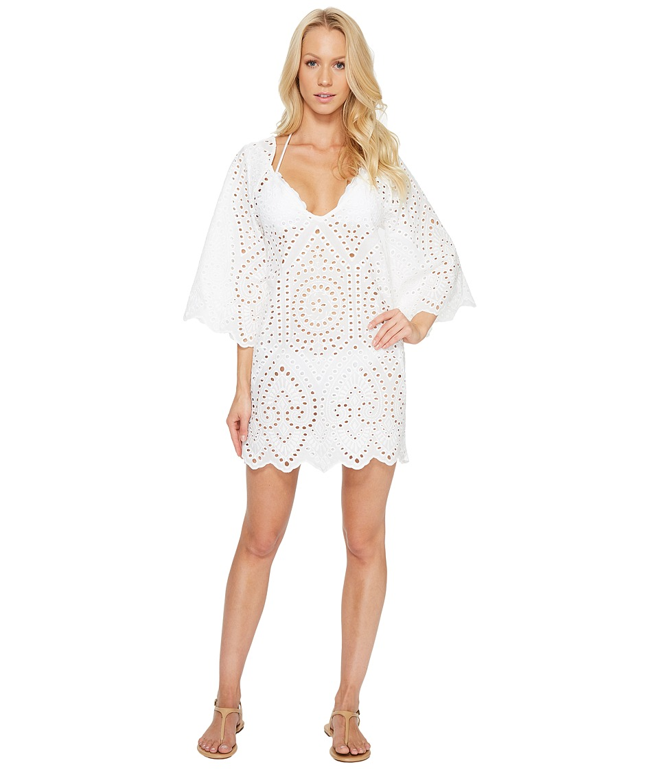 Maaji Cheer Y Sway Short Dress Cover-Up White Swimwear