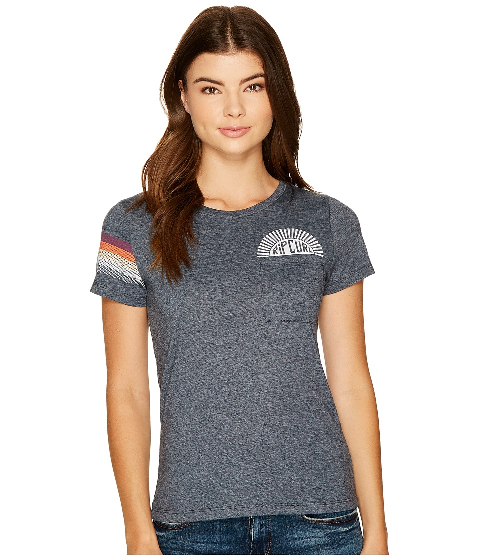Rip Curl - Sunstoned Fitted Pocket Tee (Navy) Women's T Shirt