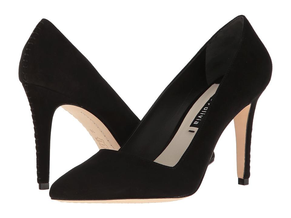 Alice + Olivia - Dina 95 (Black Kid Suede) Women's Shoes