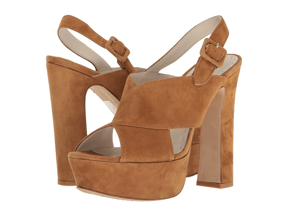 Alice + Olivia Larissa Toffee Kid Suede Shoes