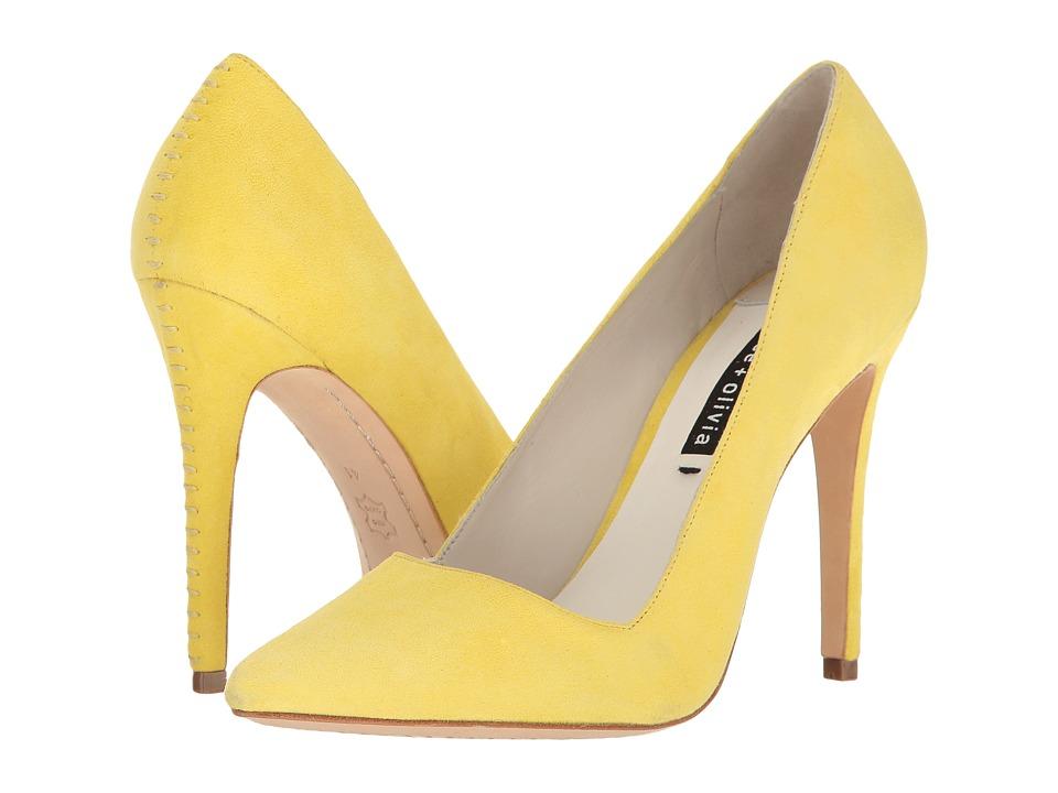 Alice + Olivia - Dina (Lemon Kid Suede) Women's Shoes