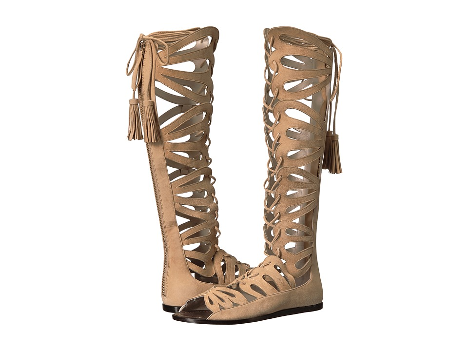 Alice + Olivia Carolyn Warm Sand Prime Suede Shoes
