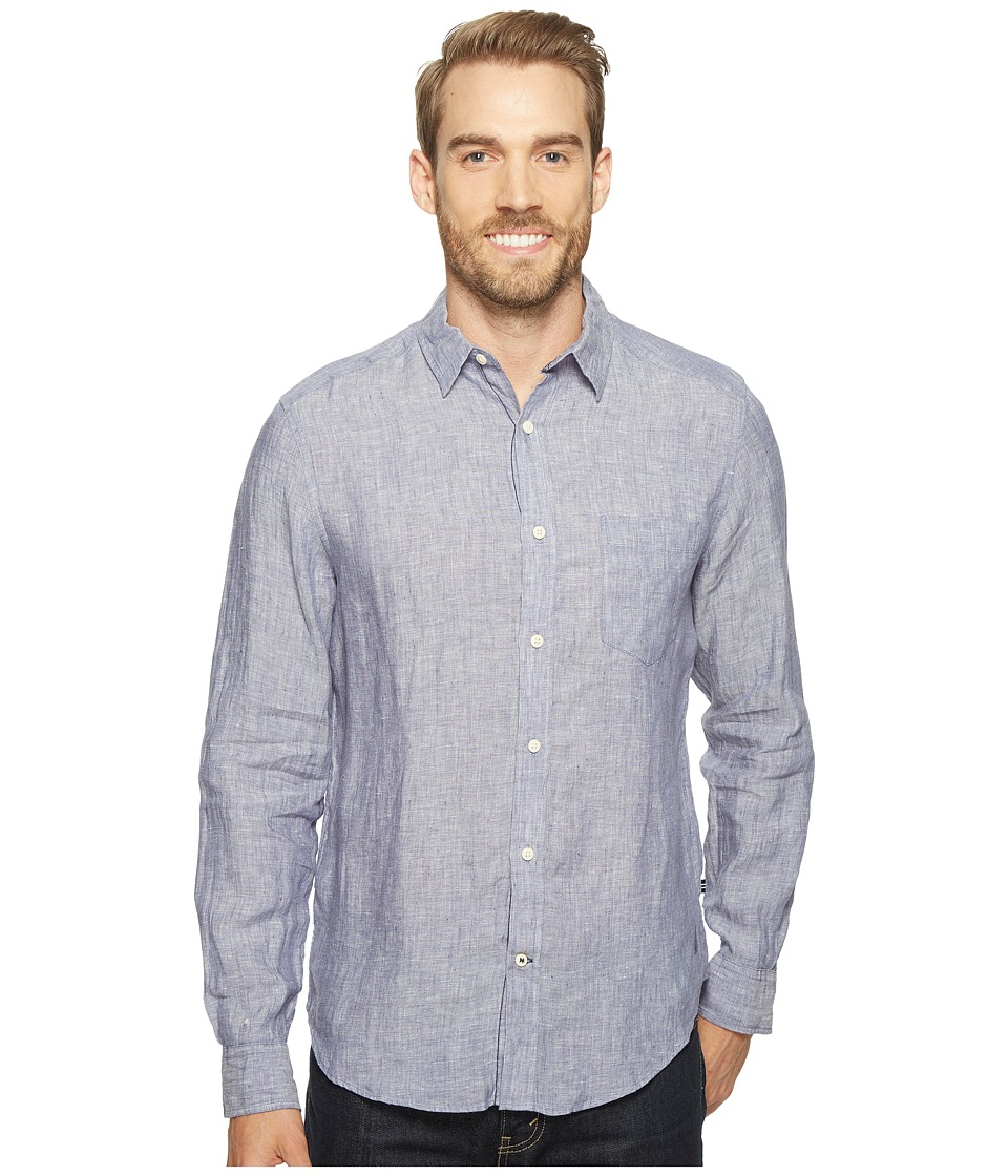 Nautica - Long Sleeve Resort Solid Linen (Blue Indigo) Men's Clothing