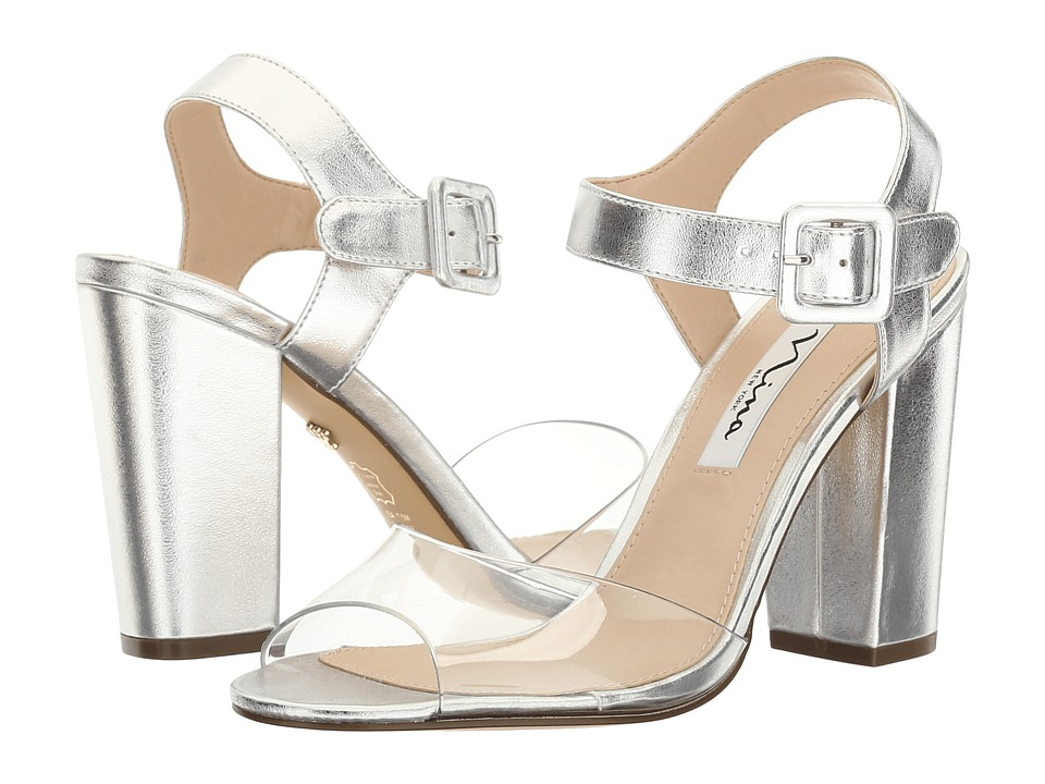 Nina - Shirley (Clear/Silver) Women's Shoes