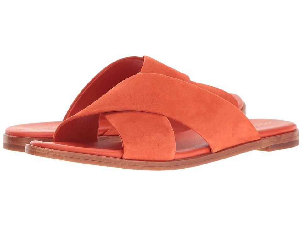 Cole Haan Anica Crisscross Sandal (Spicy Orange Suede) Women's Sandals