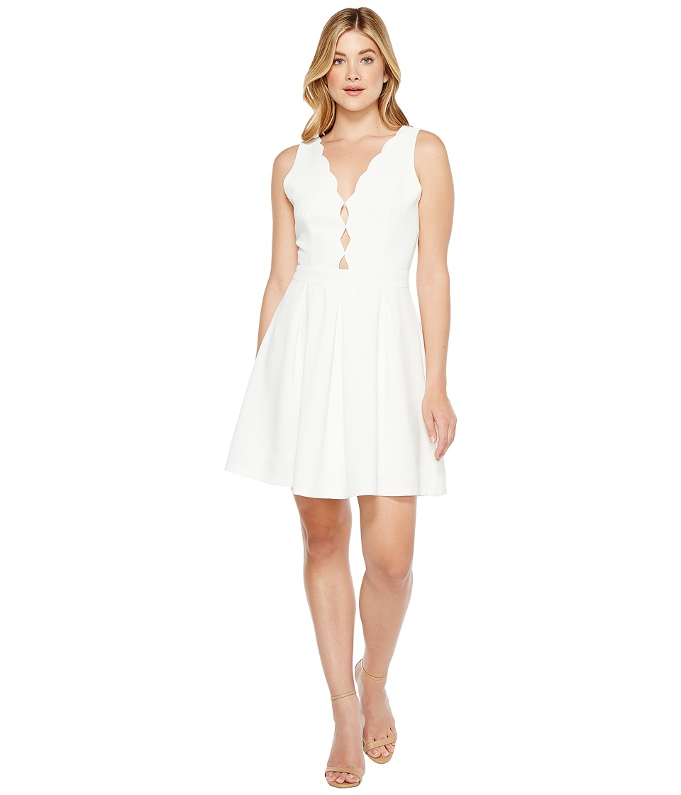 Adelyn Rae Serena Fit and Flare Dress (Off-White) Women