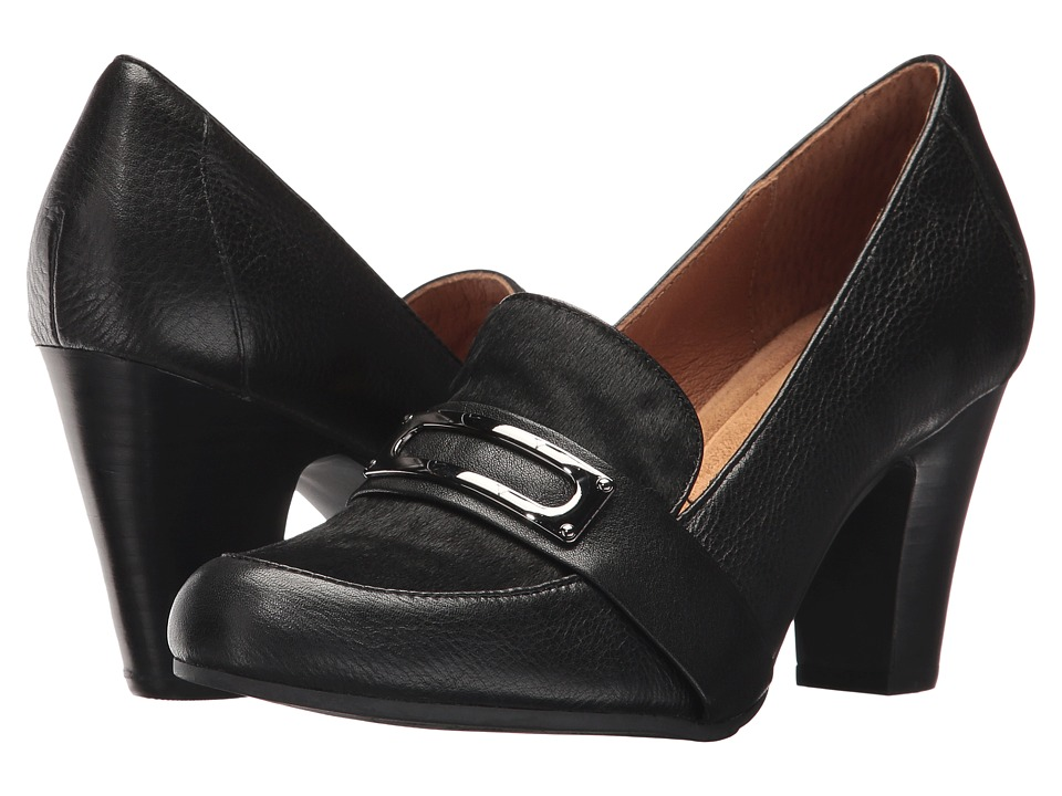 Sofft Misty (Black Cow Vintage/Horse Hair) High Heels