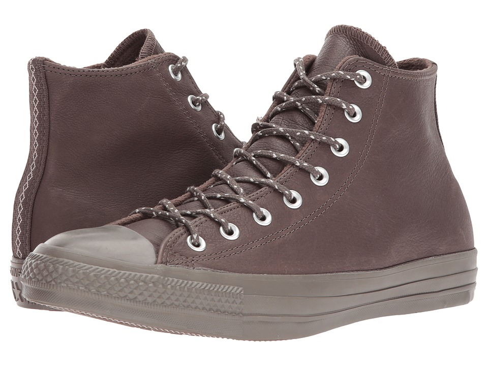 Converse Chuck Taylor(r) All Star(r) Leather w/ Thermal Hi (Dark Chocolate/Dark Chocolate) Classic Shoes