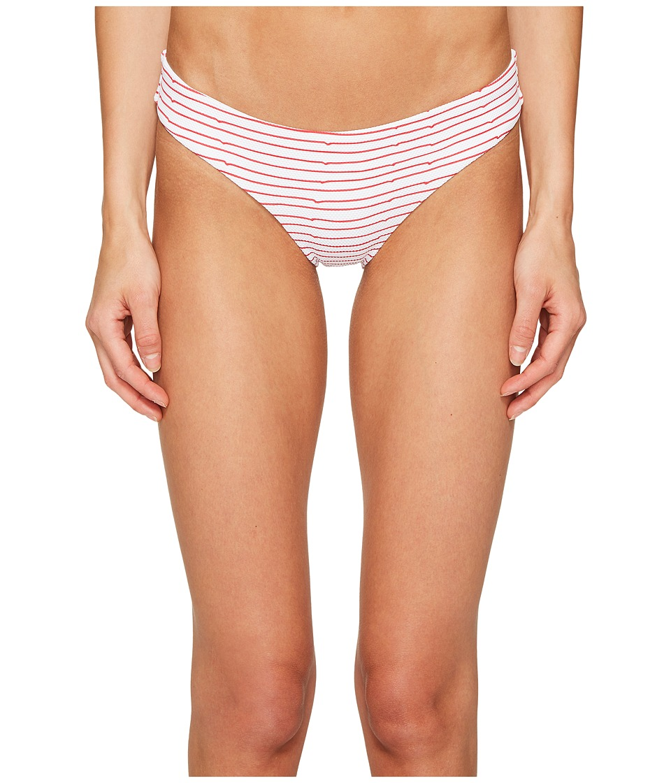 onia Lily (Notched Stripes/Salsa/White) Women