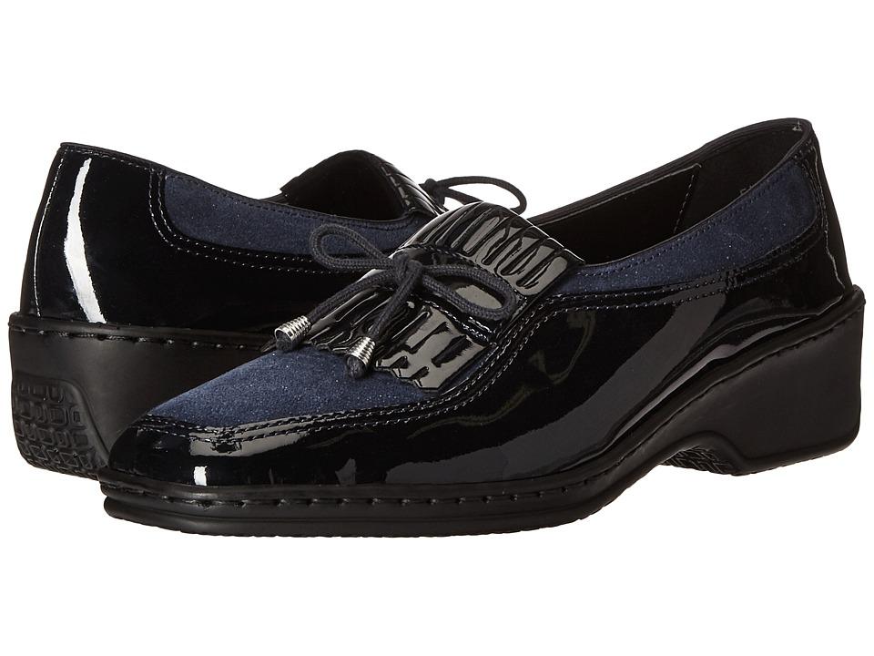 ara - Rachel (Blau Patent) Women's Slip on  Shoes