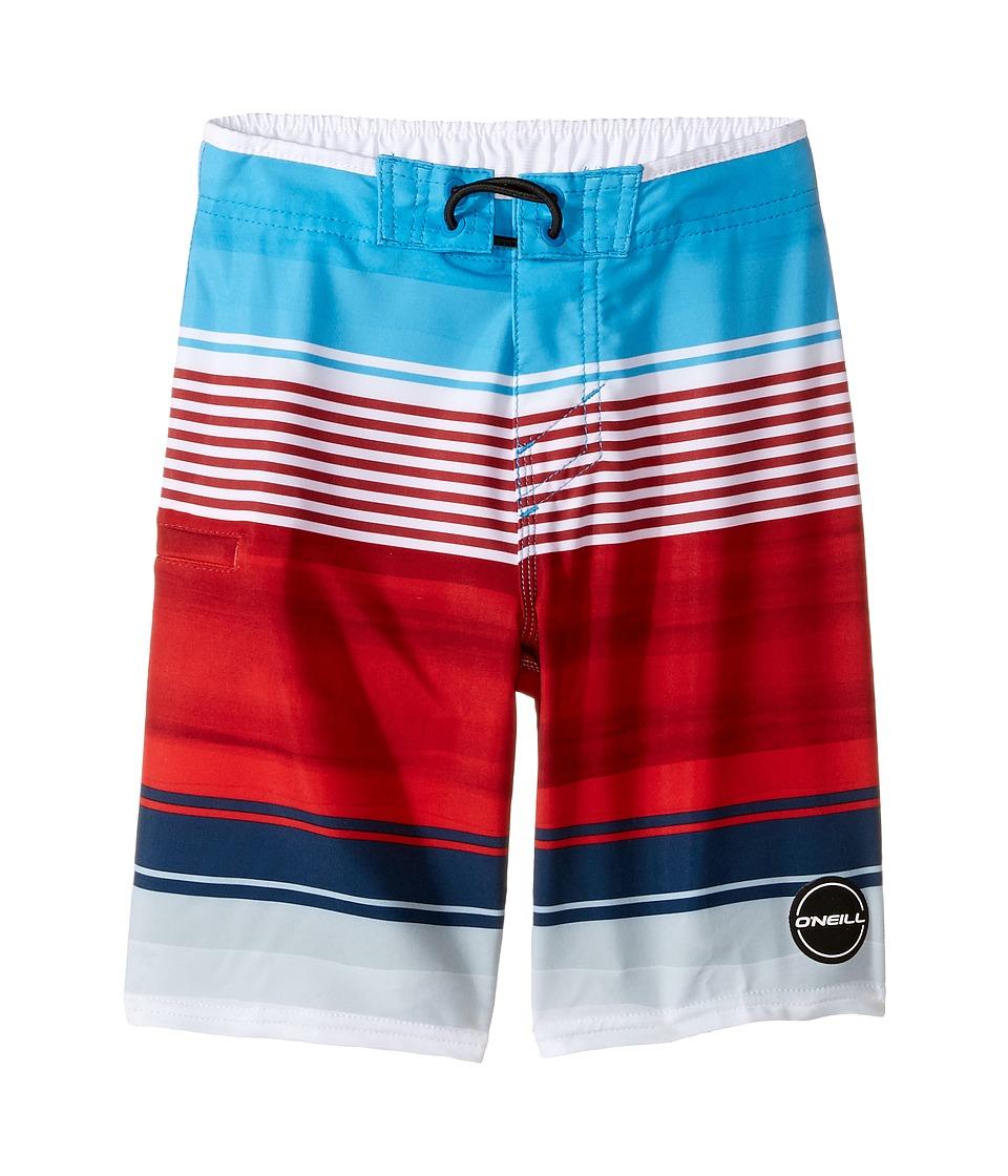 O'Neill Kids - Hyperfreak Heist Boardshorts (Little Kids) (Red/White/Blue) Boy's Swimwear