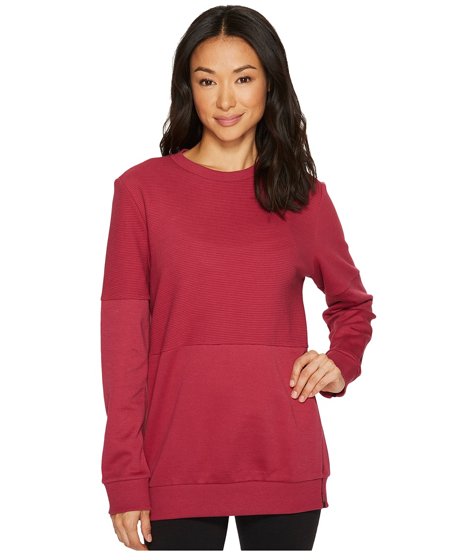 adidas ID Long Sleeve Cover-Up (Mystery Ruby) Women