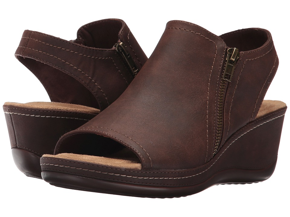White Mountain - Farrell (Dark Brown Suede) Women's Shoes