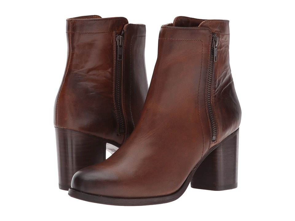 Frye Addie Double Zip (Whiskey Smooth Pull-Up Leather) Women