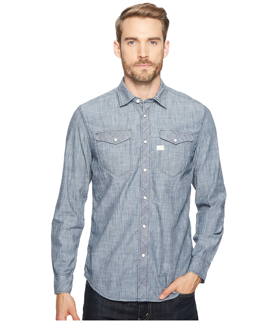G-Star - Tacoma Deconstructed Shirt Long Sleeve (Rinsed) Men's Clothing