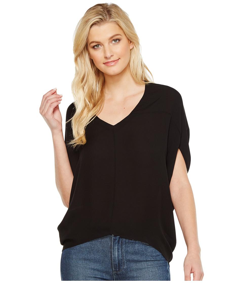 HEATHER - Silk Bubble Top (Black) Women's Clothing
