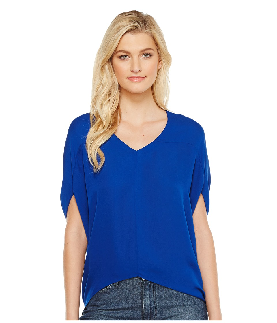 HEATHER - Silk Bubble Top (Pacific) Women's Clothing