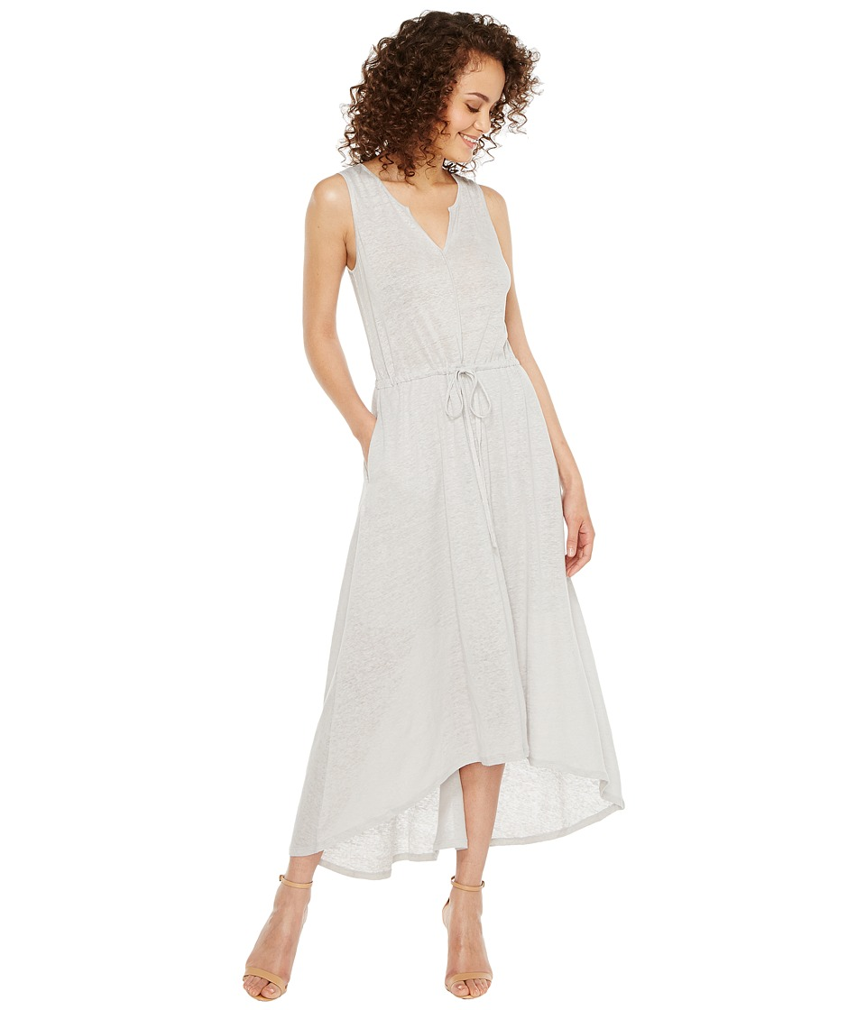 HEATHER - Grace Linen Grecian Maxi Dress (Silver) Women's Dress