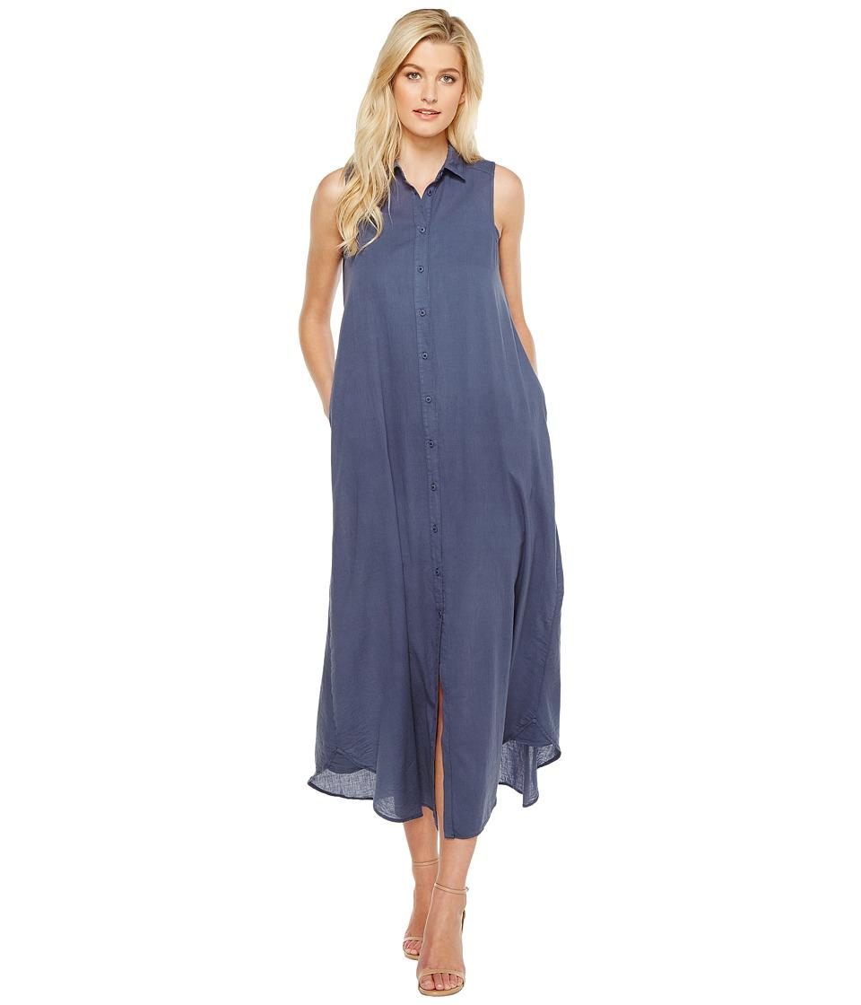 HEATHER - Fonda Twill Voile Maxi Shirtdress (Canal) Women's Dress