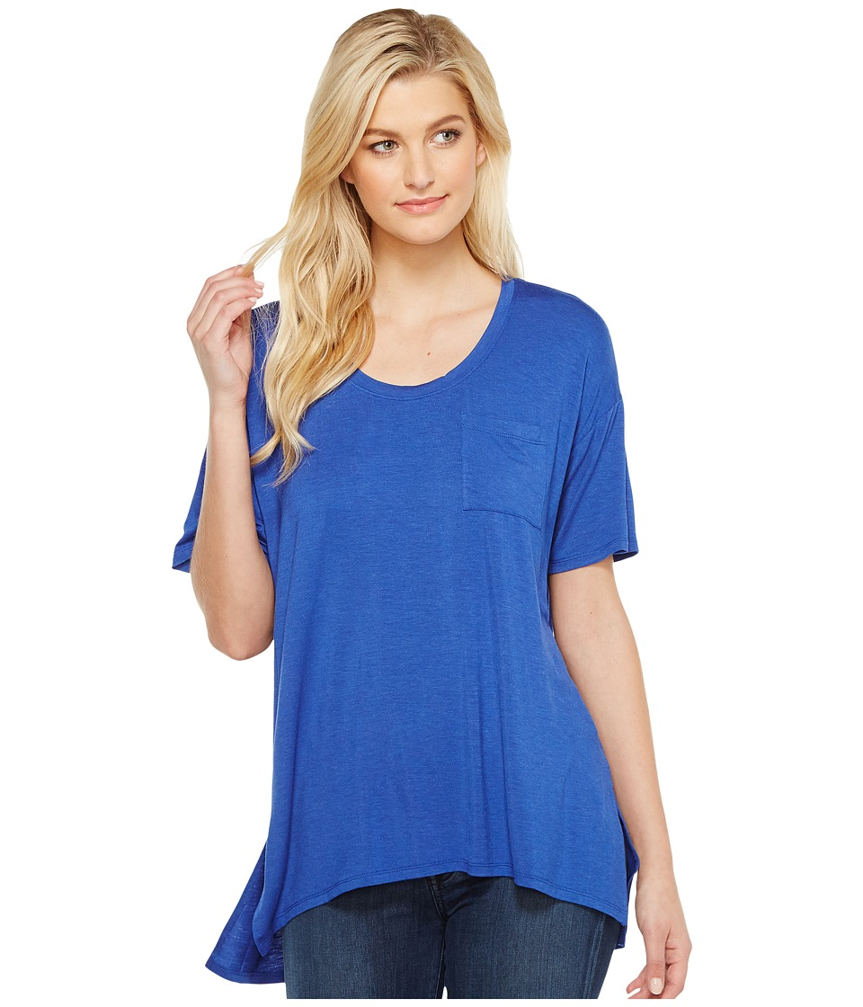 HEATHER - Slouchy Pocket Tee (Heather Pacific) Women's T Shirt