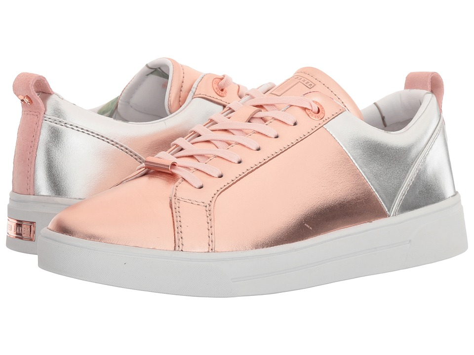 Ted Baker - Kulei (Rose Gold/Silver Leather) Women's Lace up casual Shoes
