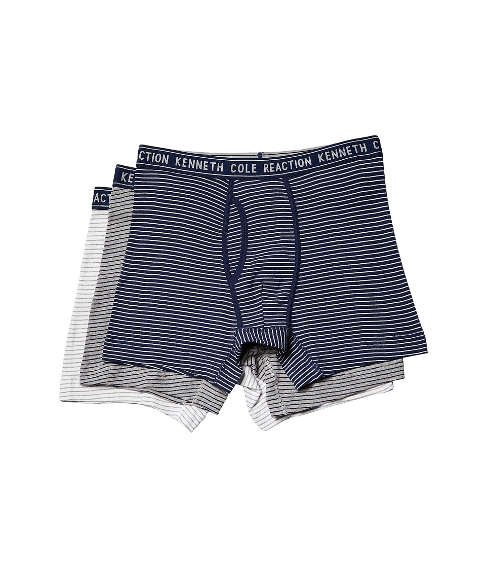 Kenneth Cole Reaction - Boxer Brief Set (Blue Pinstripe/Heather Grey/Medieval Blue Pinstripe/White Pinstr) Men's Underwear