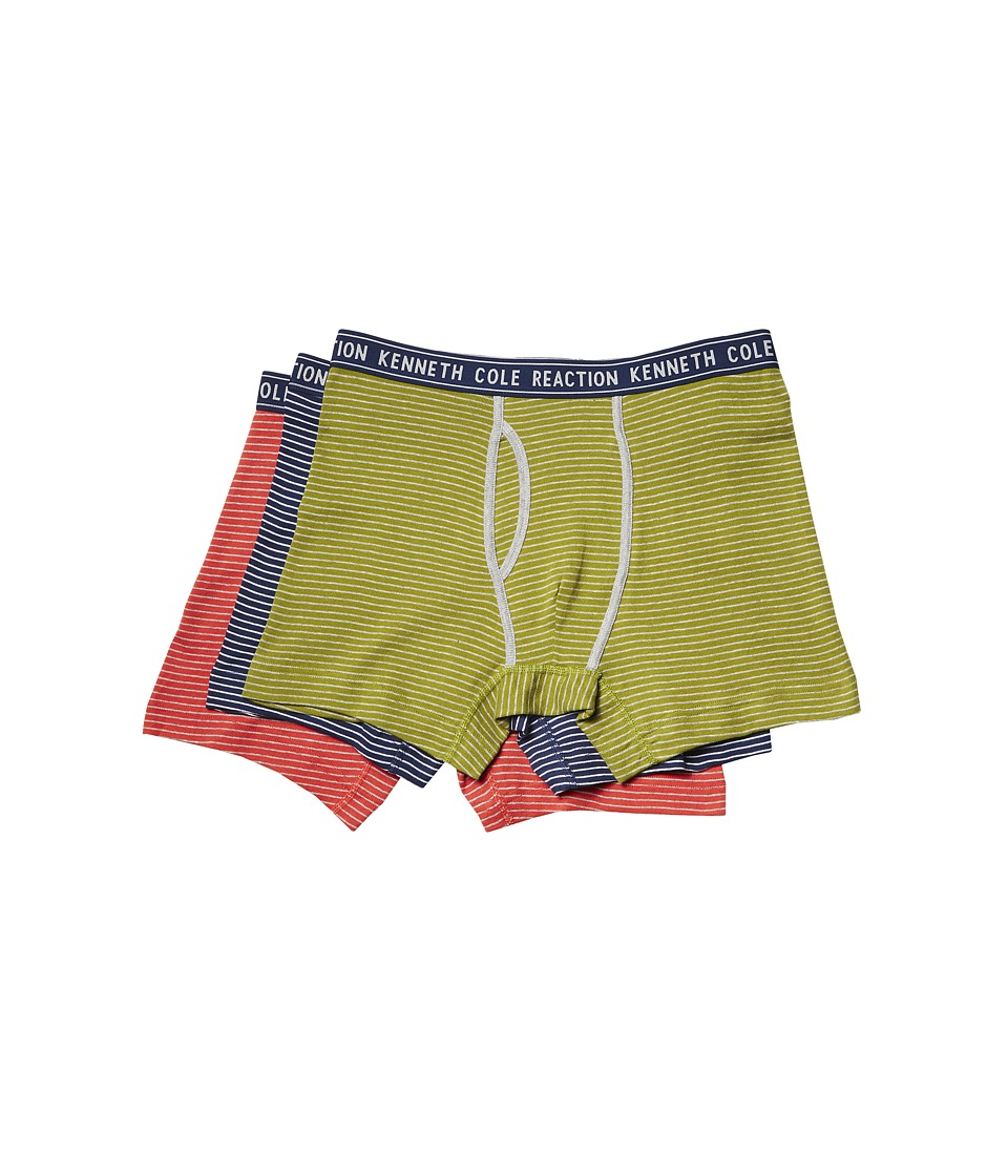 Kenneth Cole Reaction - Boxer Brief Set (Grey/Blue Pinstripe/Bright Cobalt/Molten Lava Pinstripe) Men's Underwear