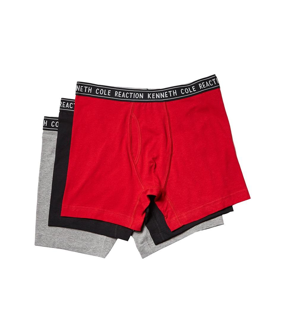 Kenneth Cole Reaction - Boxer Brief Set (Haute Red/Black/Medium Heather Grey) Men's Underwear