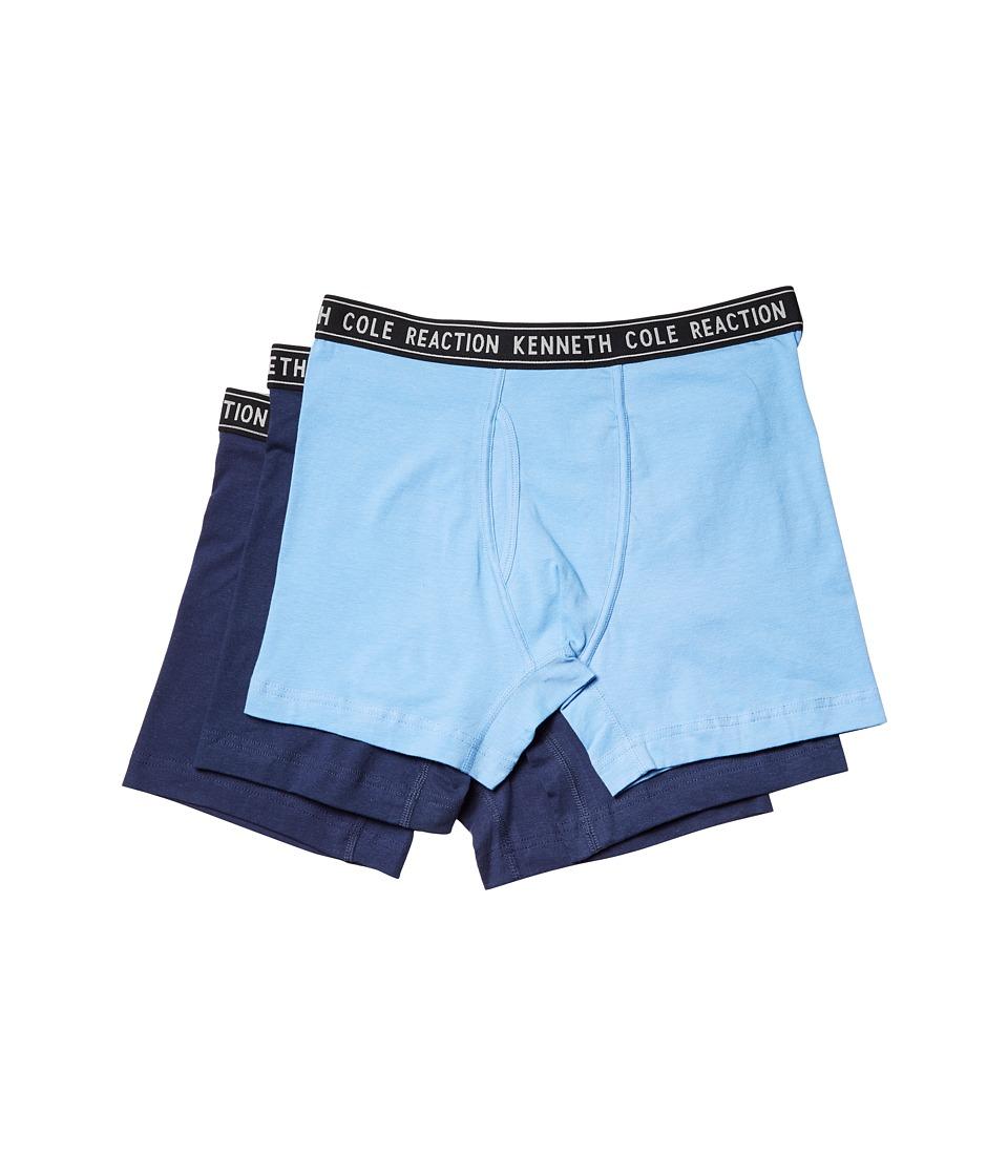 Kenneth Cole Reaction - Boxer Brief Set (Cornflower Blue/Medieval Blue/True Navy) Men's Underwear
