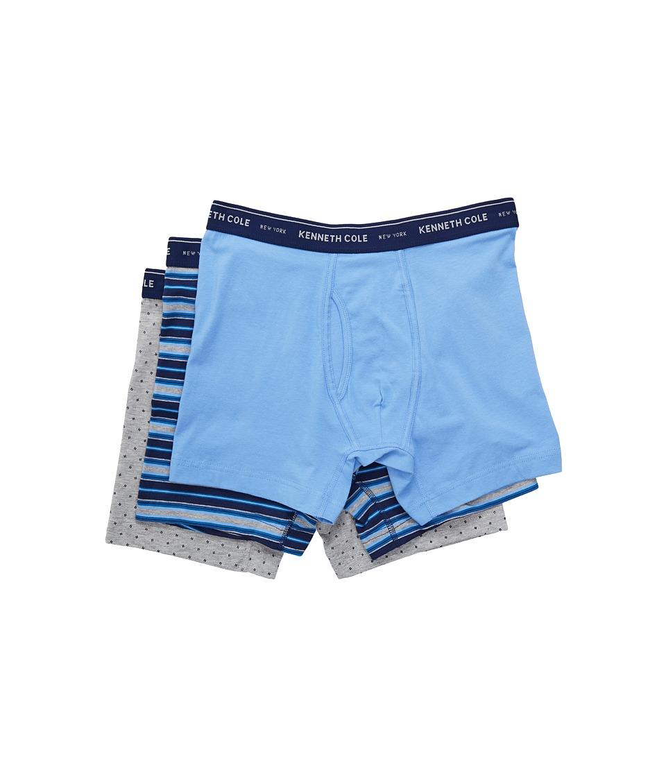 Kenneth Cole Reaction - Boxer Brief (Medieval Blue/Cornflower Blue/Light Heather Grey) Men's Underwear