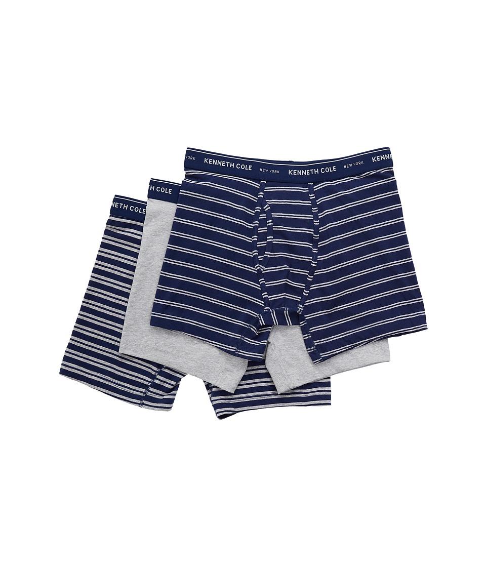 Kenneth Cole Reaction - Boxer Brief (Blue Stripe/Light Heather Grey/Medieval Blue Stripe) Men's Underwear
