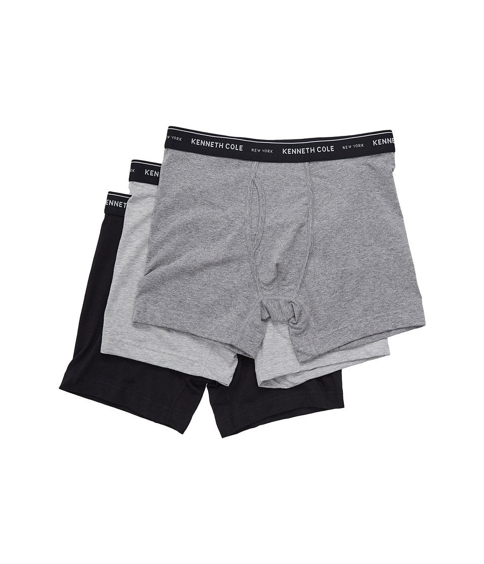 Kenneth Cole Reaction - Boxer Brief (Black/Medium Heather Grey/Light Heather Grey) Men's Underwear
